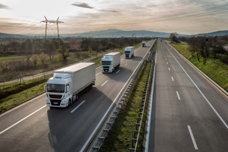 Trucks in highways