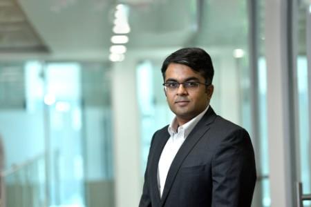 A photographic portrait of Vinay Raghunath
