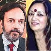Radhika Roy and Prannoy Roy