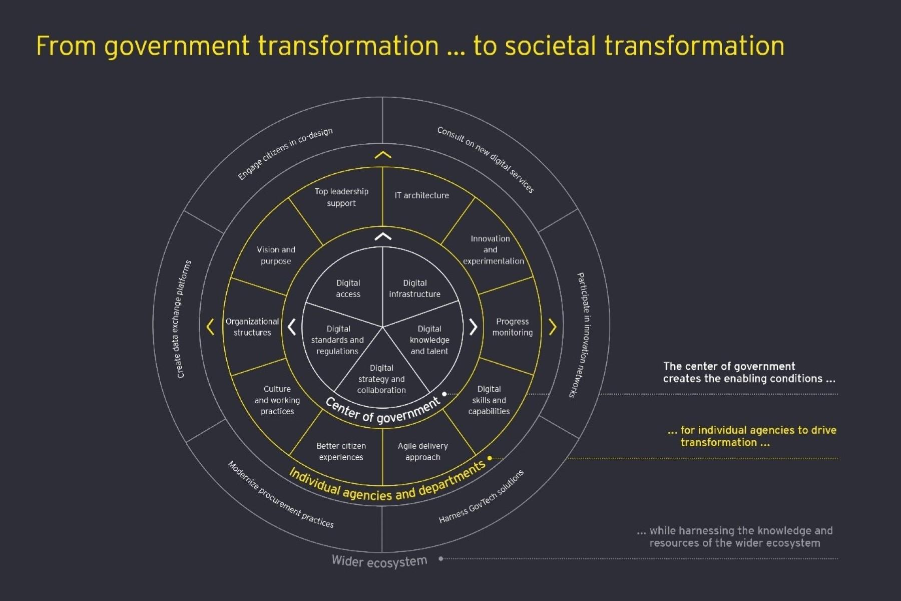 Government transformation to societal transformation