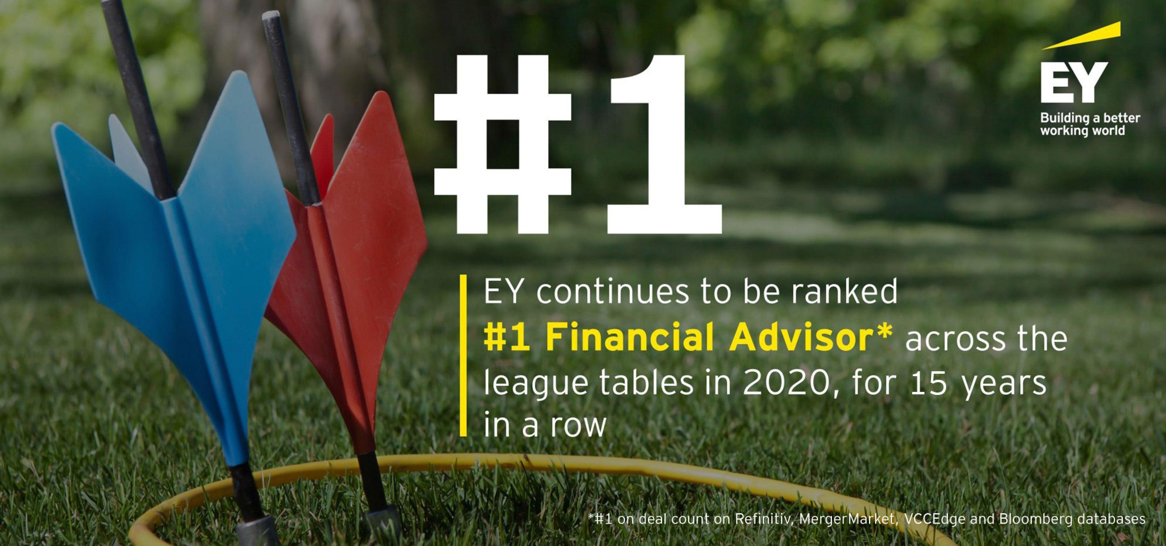 EY - #1 financial advisor across league table in 2020.