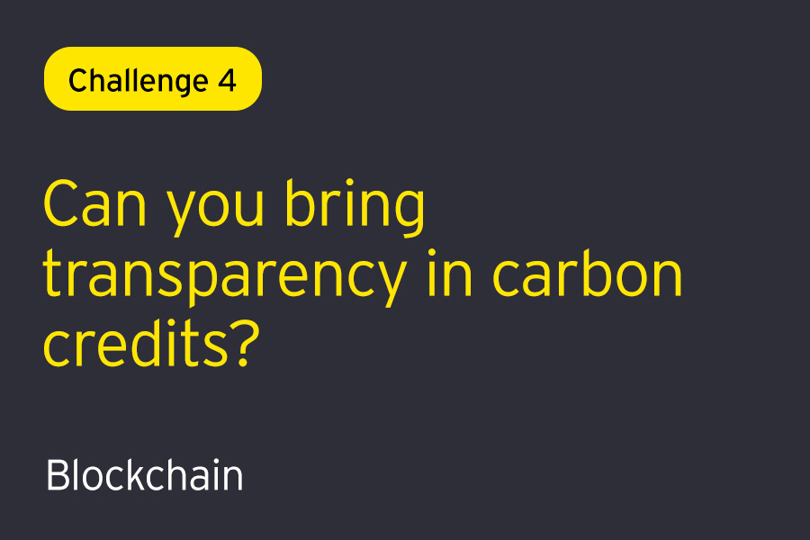 Challenge 4: Can you solve to bring transparency in carbon credits?