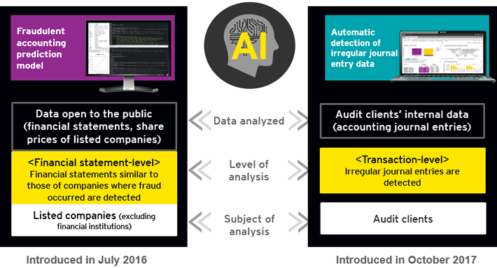 EY ShinNihon applies artificial intelligence (AI) algorithms to automatically detect irregular journal entry data
