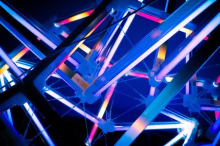 Ar-Ge ağını betimleyen renkli konstrüksiyon