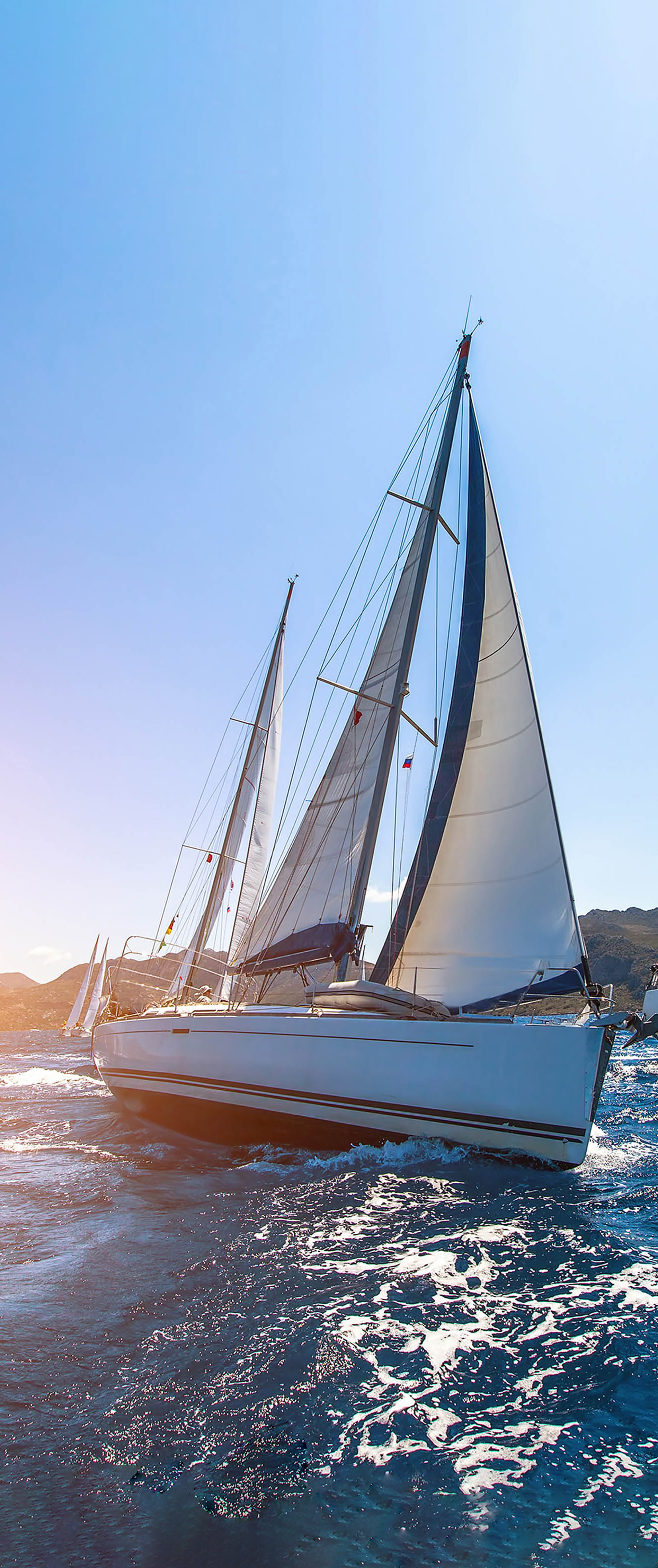 Luxury yachts Sailing regatta