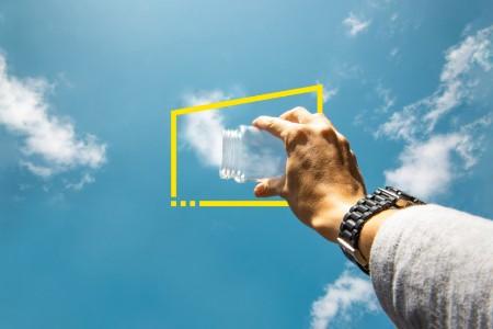 felhő üvegben