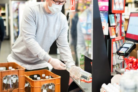 Protection against corona virus infection for supermarket cashiers