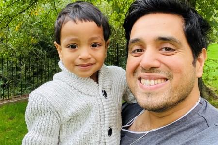 Gunjan with his son Aarav