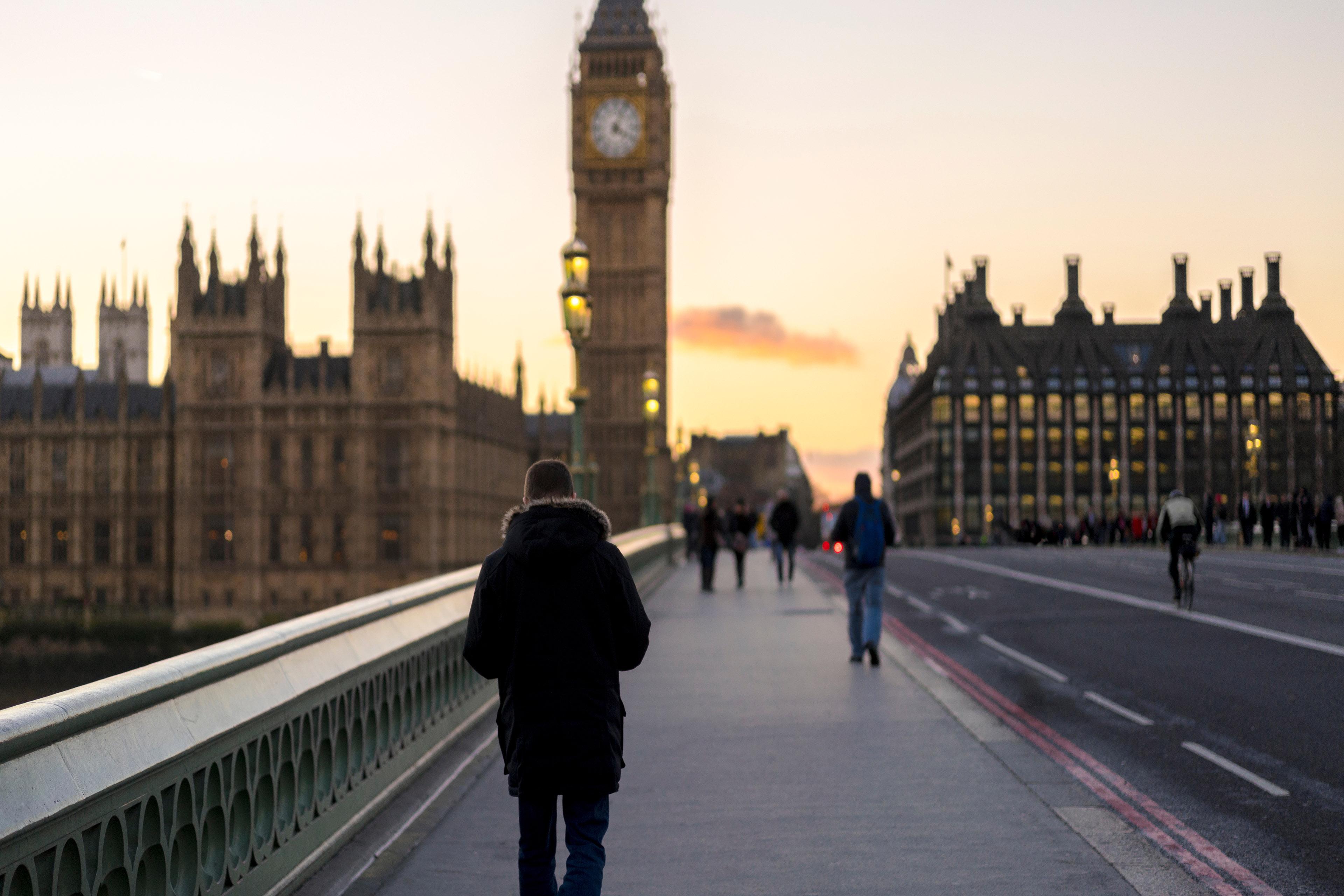 EY - Walkers on Westminster Bridge, London