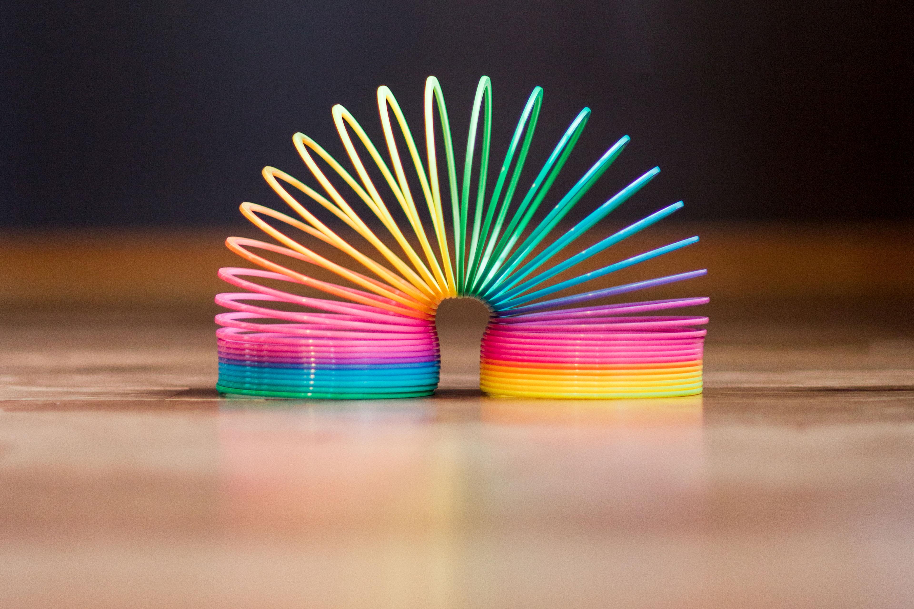 EY - Brightly coloured slinky