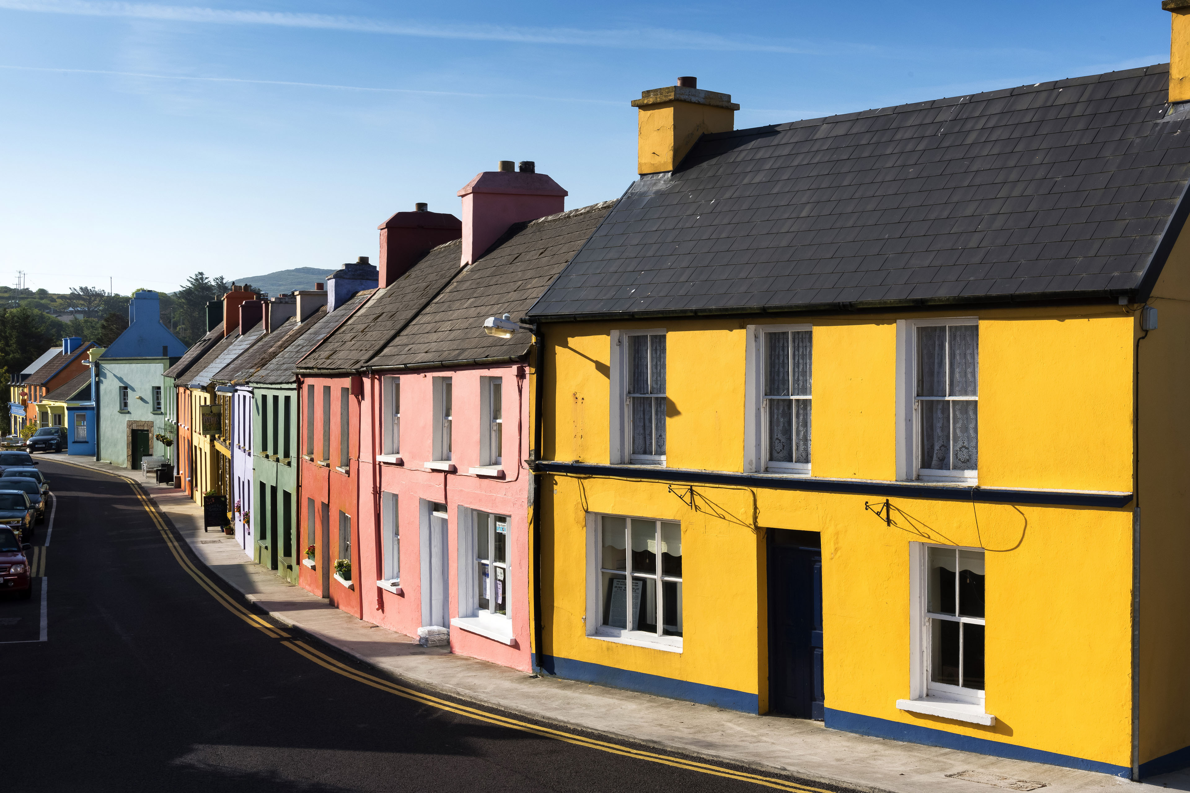 EY - Row of brightly coloured houses