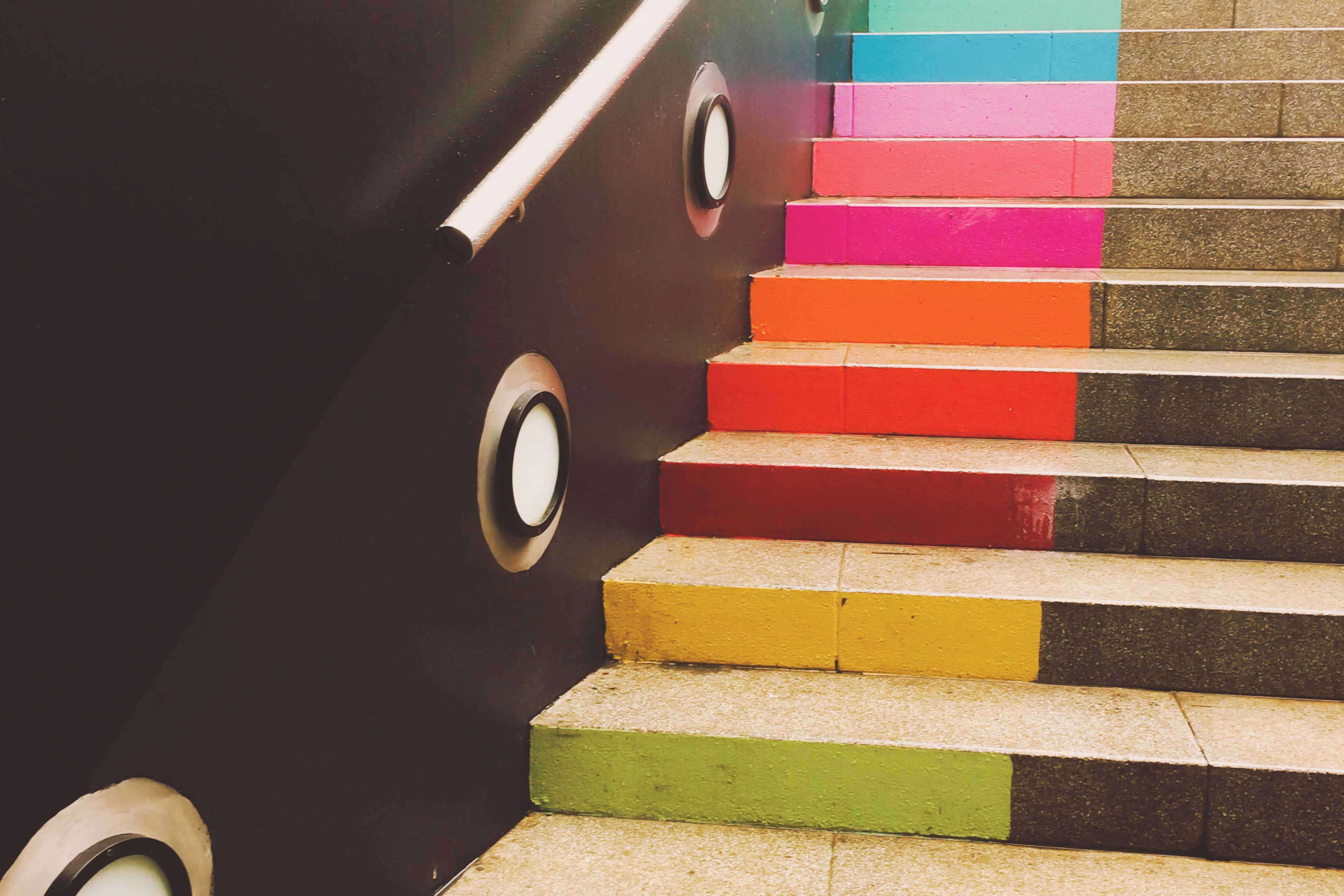 EY - Brightly coloured steps