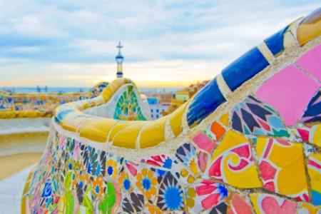 Colorful gaudi tiling