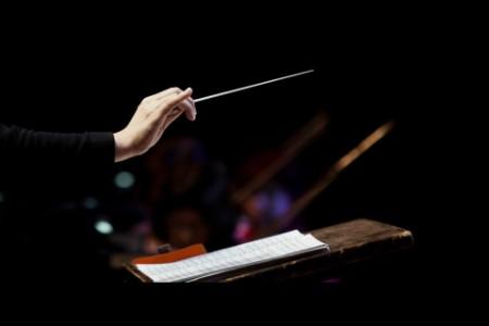 Hand with conductors baston