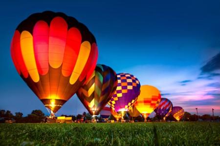 Hot Air Balloon Festival Night Glow