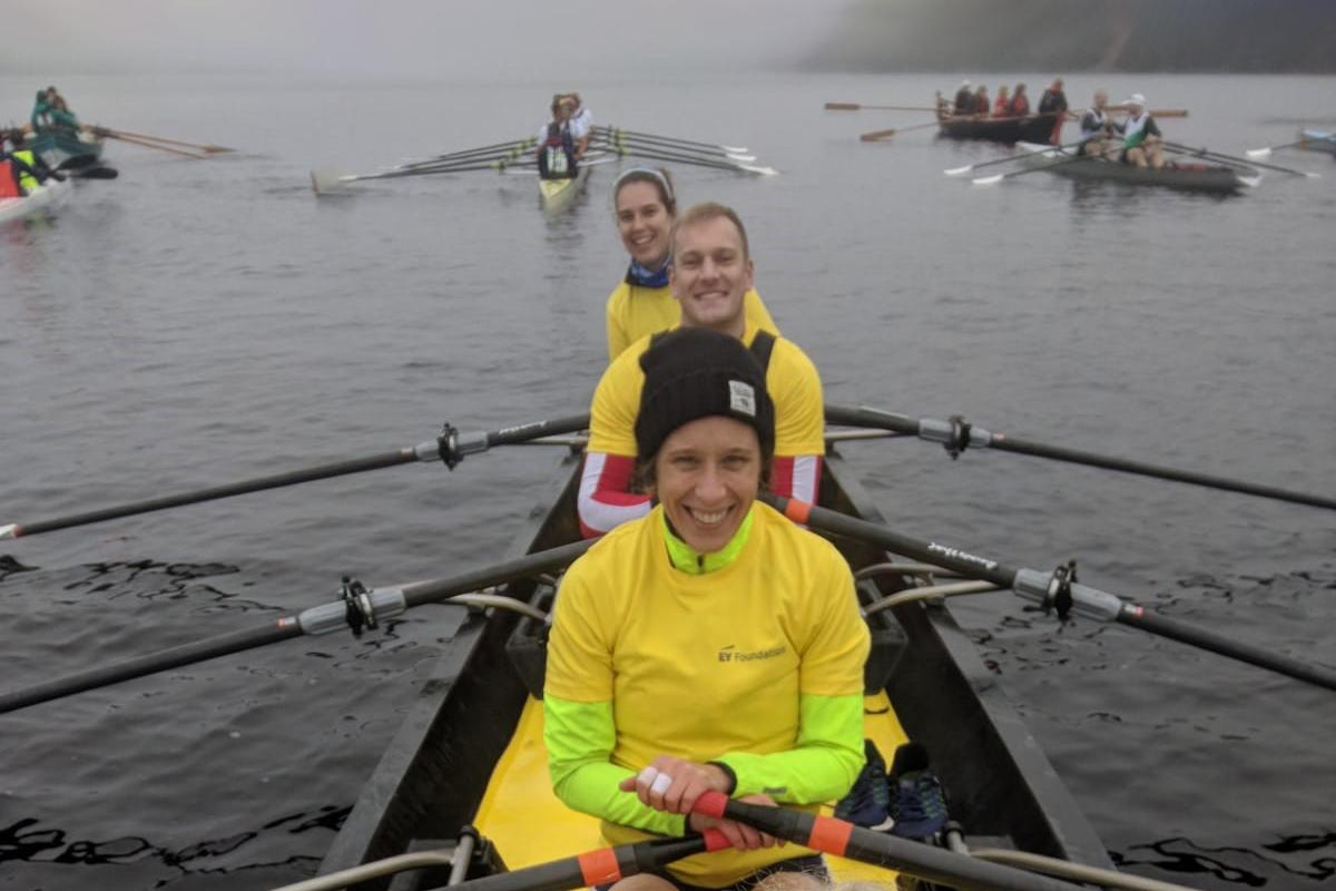 EY Foundation rowing