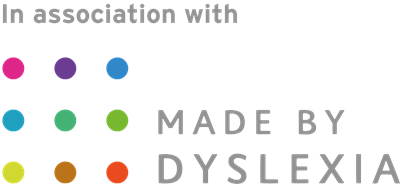 In association with Made by Dyslexia