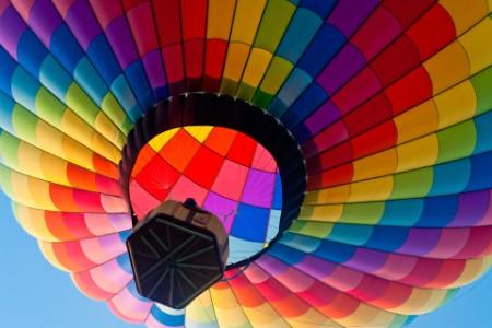 Colourful hot air baloon