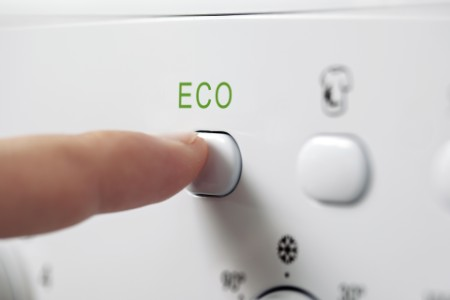 Eco button being pressed