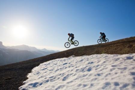 EY Cyclists Riding Bikes Downhill