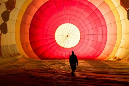 Színes hőlégballonok