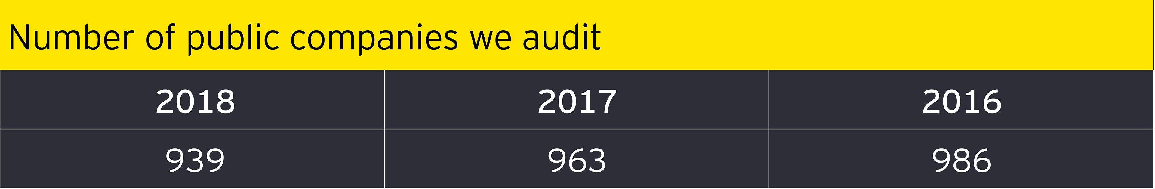 Number of public companies we audit