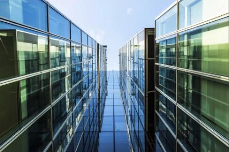 EY - Building facade with blue sky
