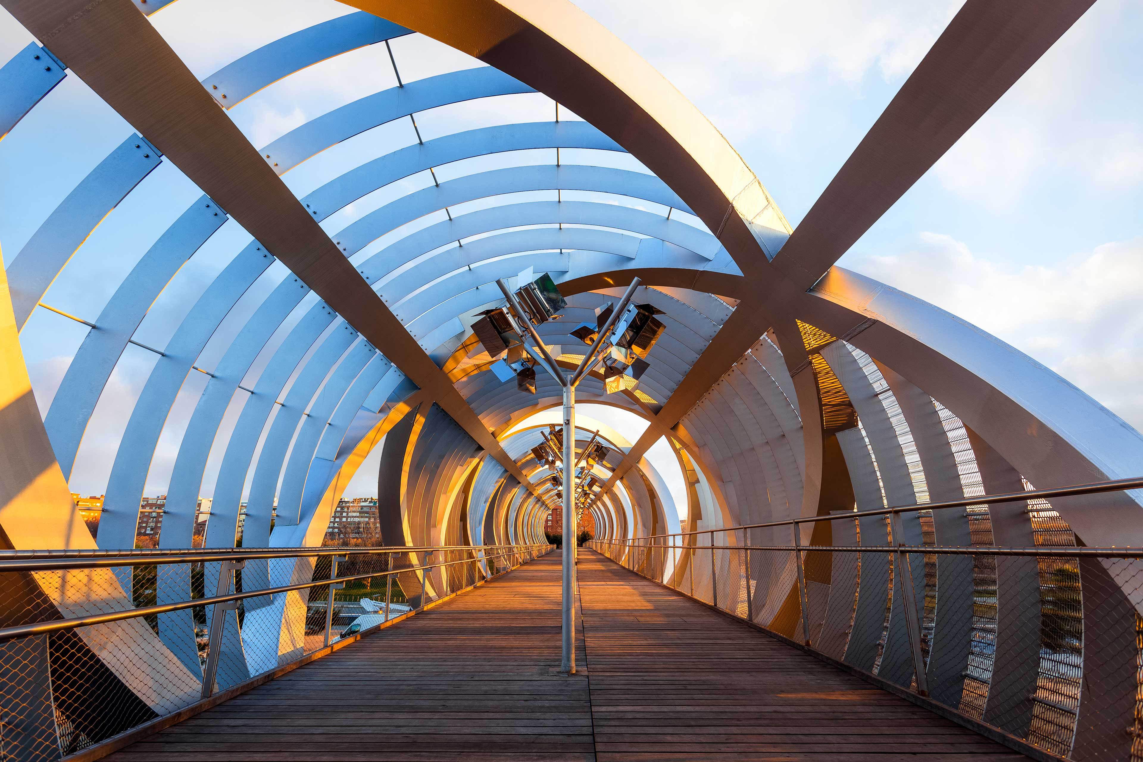 circular enclosed footbridge