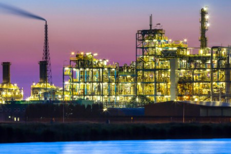 EY - Vibrant colored industrial chemical area detail