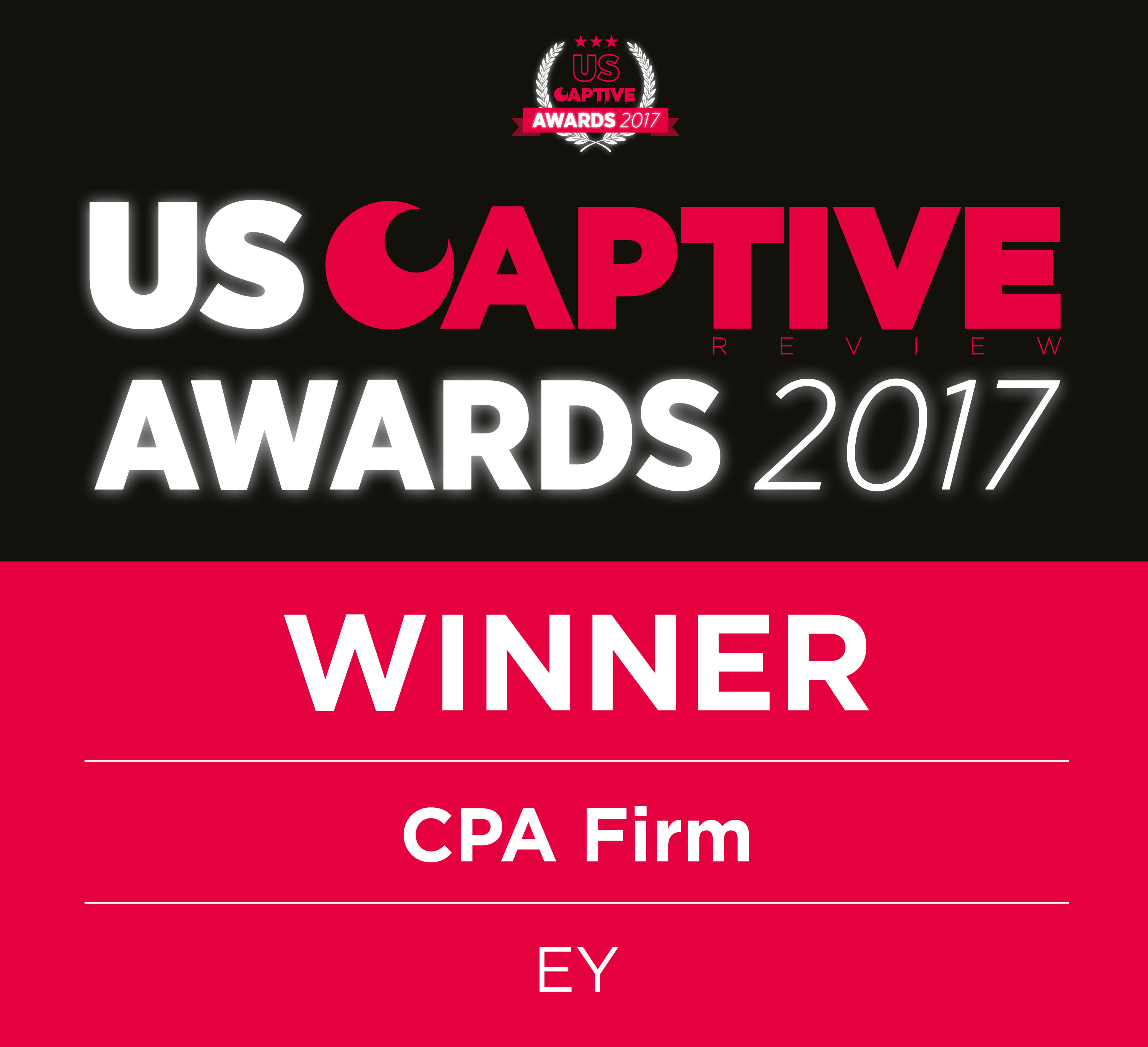 US Captive Awards 2017 Winner CPA Firm EY