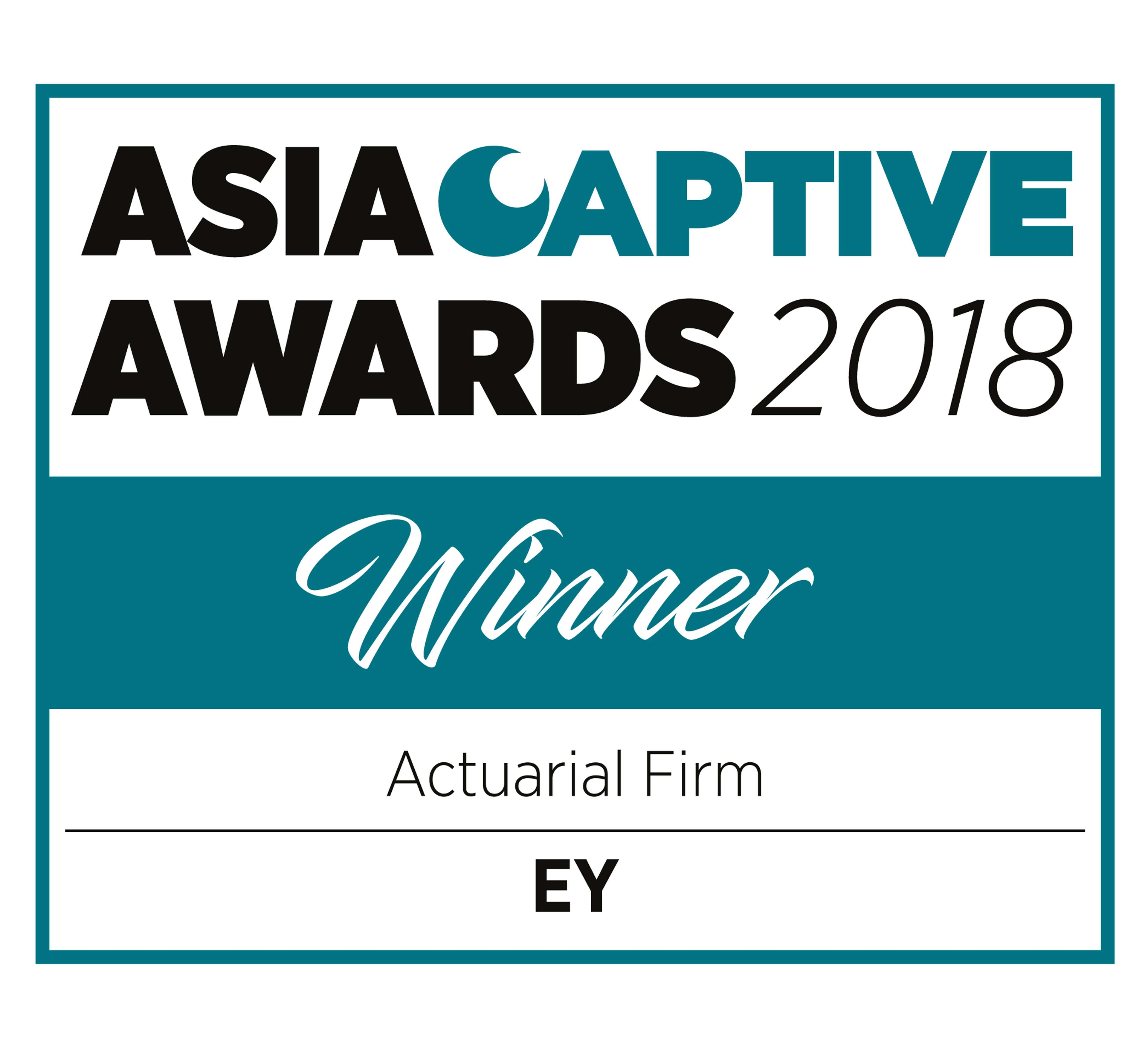 Asia Captive Awards 2018 Winner Actuarial Firm EY