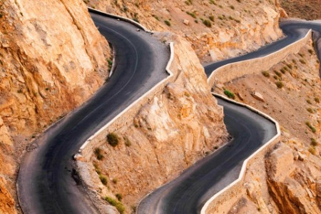 Winding road with hairpin bends