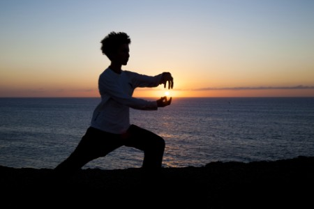 Tai-chi at sunset
