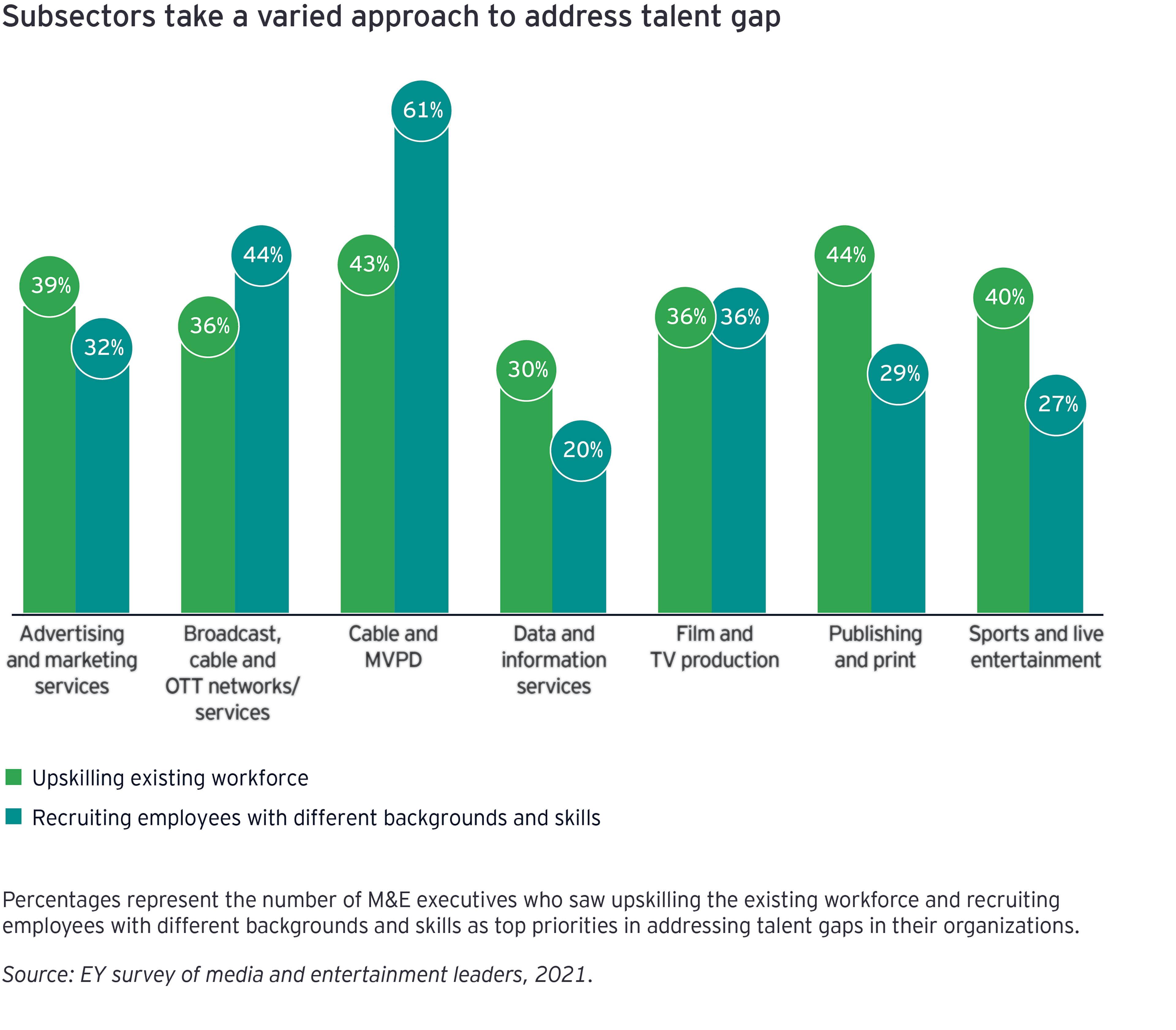 EY - Bar chart of talent gap