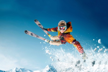 EY - Jumping skier
