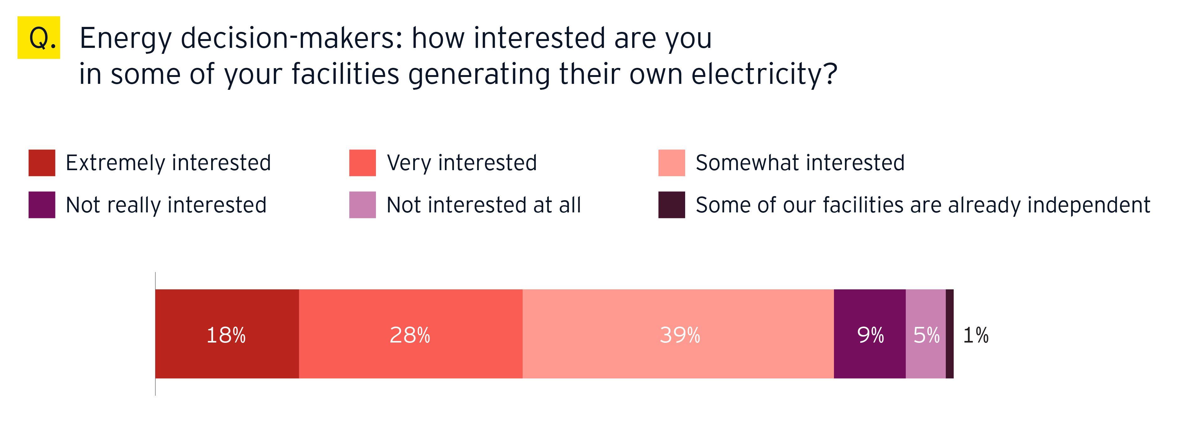 Energy decision makers: how interested are you in some of your facilities generating their own electricity?