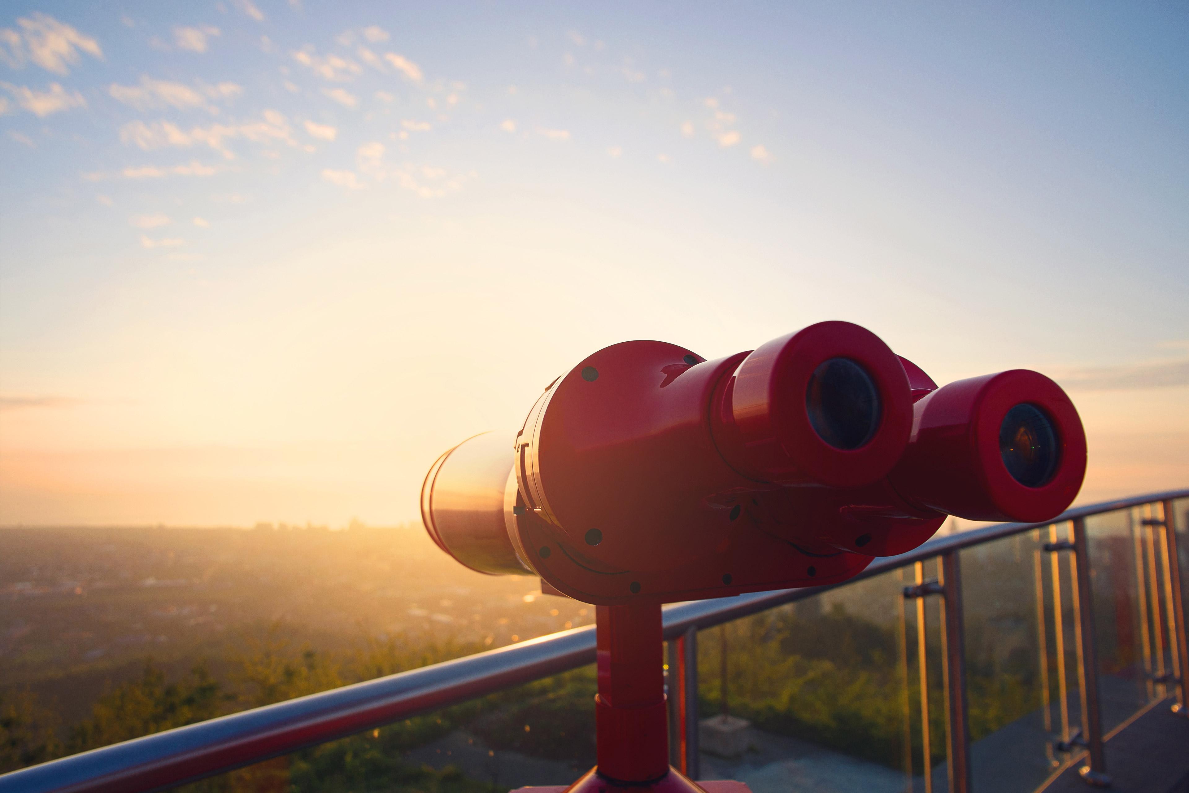 Red binoculars