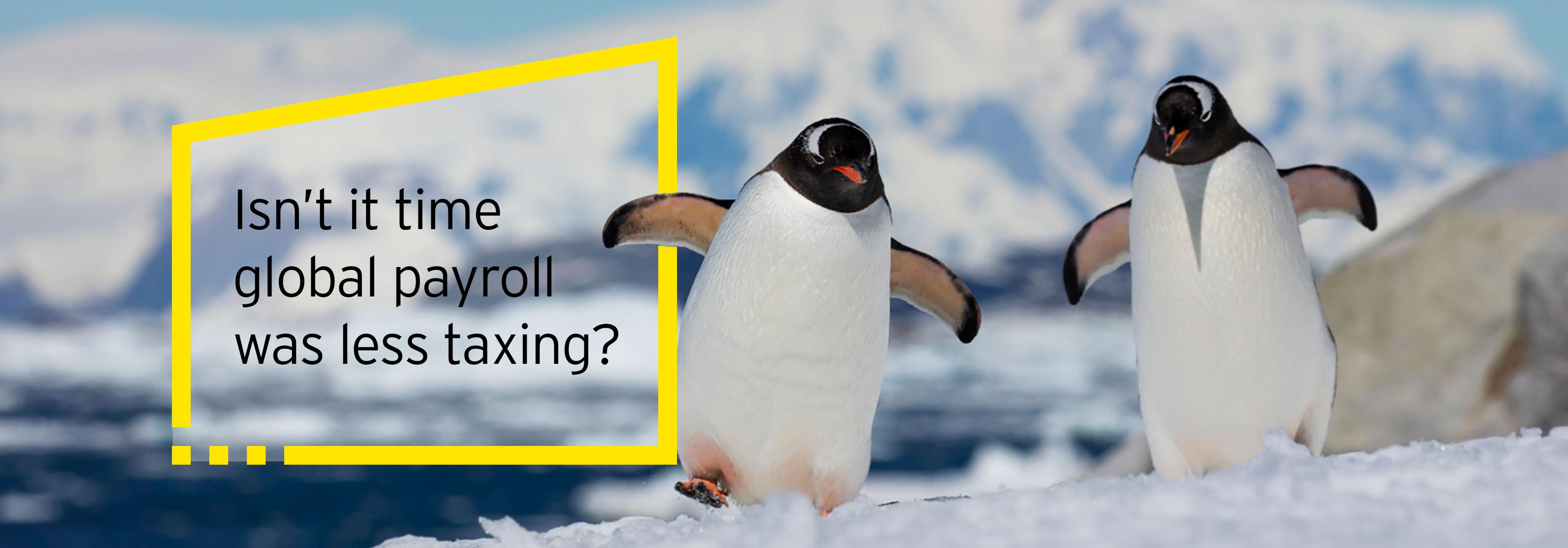 EY - Penguins walking together on snow banner v3