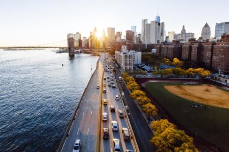 Cars traffic at day