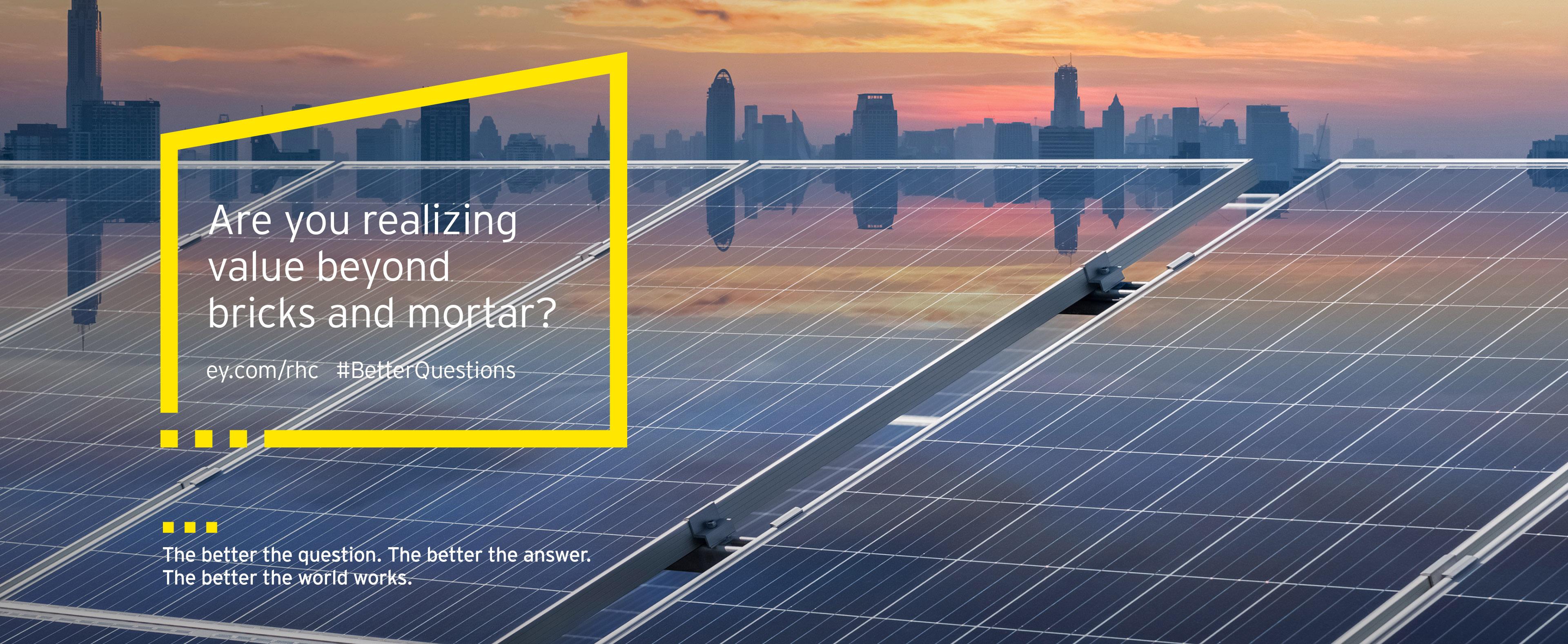 roof solar energy in sunset frame