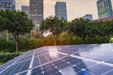EY - Solar panels in urban park setting