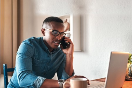 EY - African American man working from home