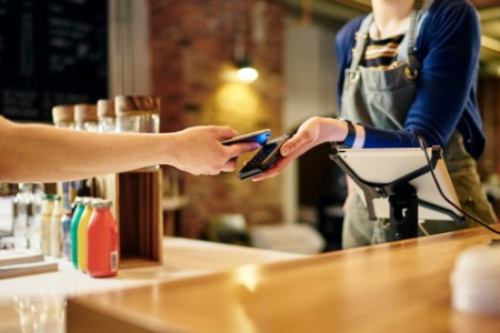 Coffee shop smartphone payment