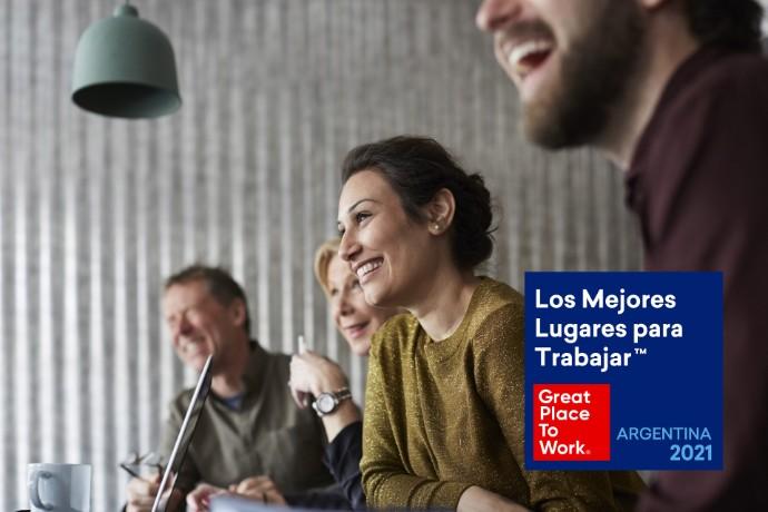 """EY fue rankeada en el octavo puesto entre """"Los Mejores Lugares para Trabajar™ en Argentina 2021 por Great Place to Work"""