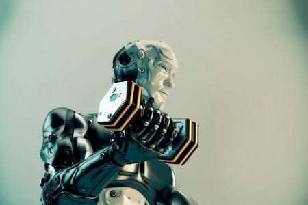 cool strong robot lift dumbbells