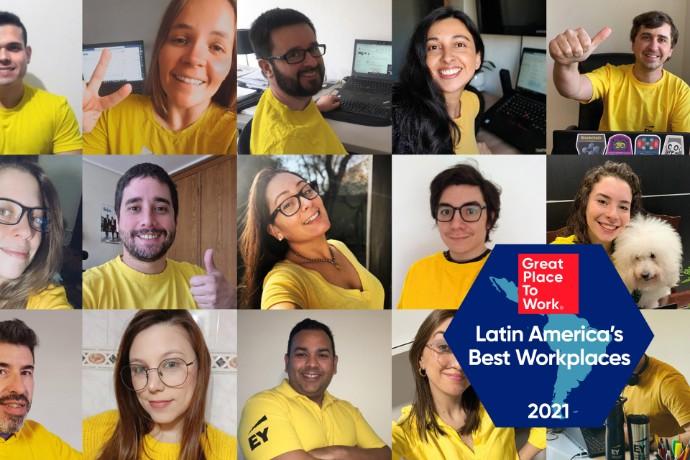 EY, rankeada en el puesto 20 de Los Mejores Lugares para Trabajar™ en América Latina 2021 por Great Place to Work®