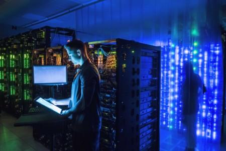 Man on server room 1