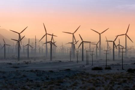 Wind Turbines desert