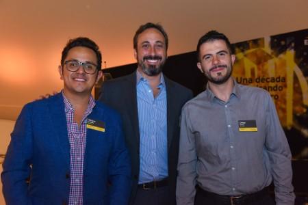 Héctor Cruzado, Cleman Agami, Diego García, de Zoé Water, finalistas En desarrollo