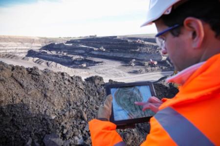 Man working on a mine